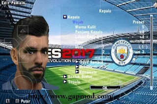 Texture Face Pack Man City for PES PSP Android [Jogress v2]