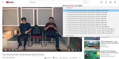 Download video youtube dengan IDM