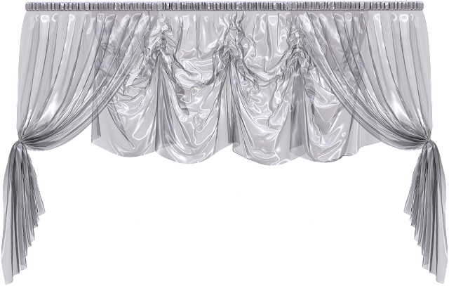 Silver and transparent curtain