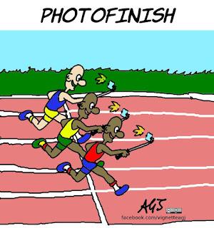 rio2016, olimpiadi, selfie, smartphone, umorismo, sport, vignetta