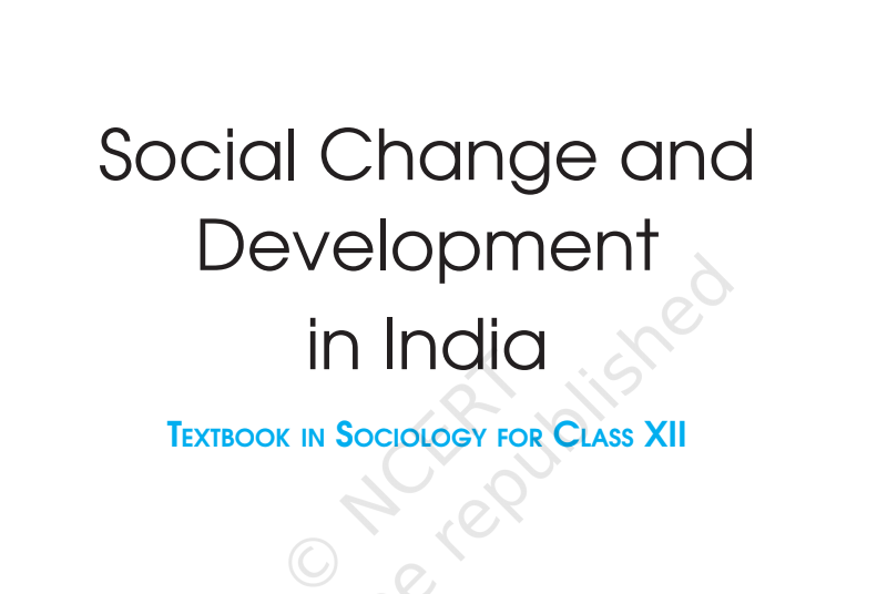 NCERT CLASS 12TH SOCIOLOGY PART-2 [ IN ENGLISH