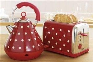 Red Polka Dot Kettle And Toaster Kalorik Toasters Jen S