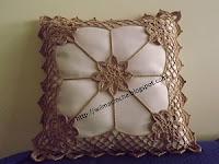 almofada de crochê