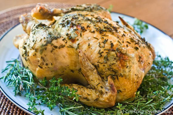http://cookingontheside.com/herb-crusted-roast-chicken/