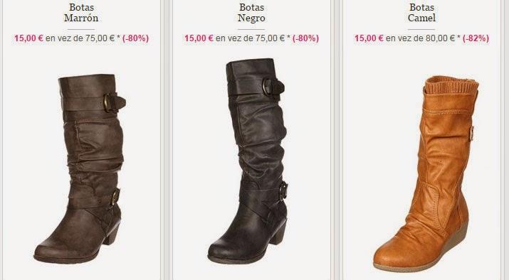 Tres ejemplos de botas para mujer disponibles a 15 euros