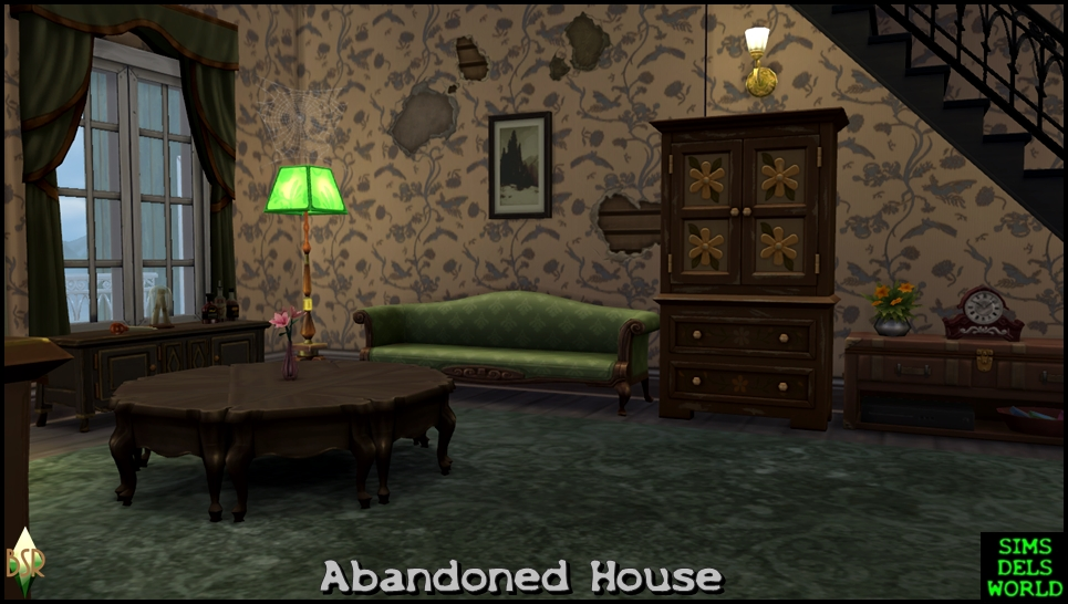 Simsdelsworld the sims 4 abandoned house for Classic house sims 4