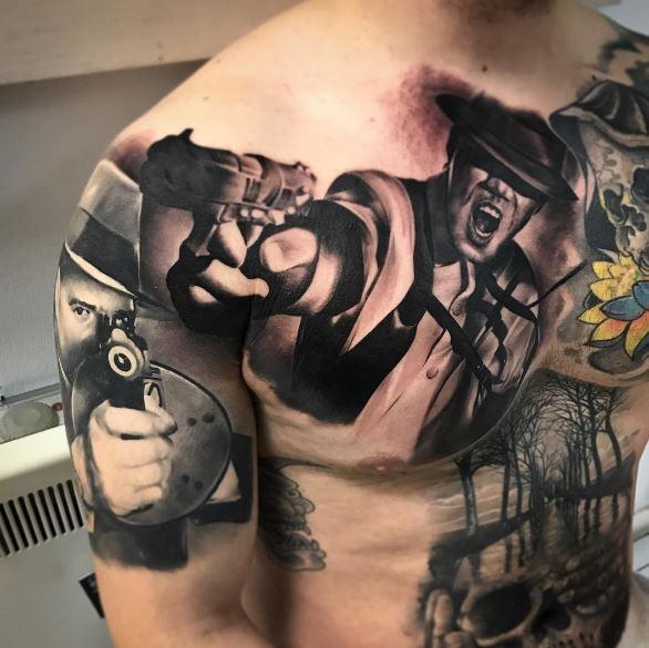 336b246aa746c 50+ Cool Gangster Tattoos For Females (2019) | Tattoo Ideas