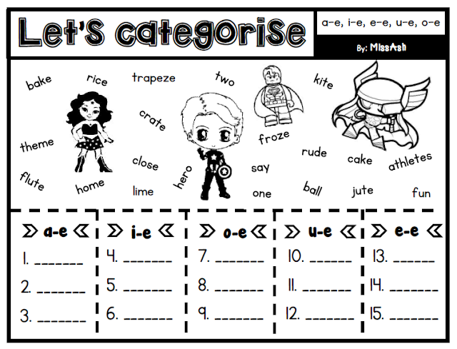 ASH THE TEACHER: Let's Categorise Module