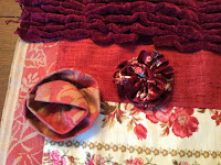 Two fabric flowers