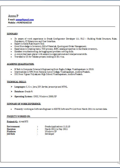 Sample Resume Profile Statement Resume
