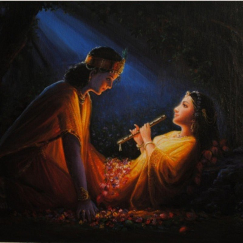 Emotional & Sentimental pic of lord krishna and radha in love