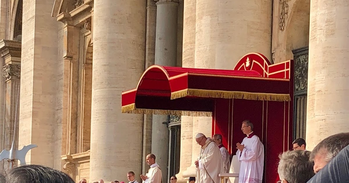 Led by Archbishop Rowan Williams, Anglicans attend the Canonisation of Oscar Romero and Pope Paul VI