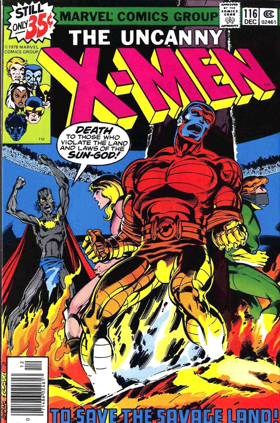 X-men v1 #116 marvel comic book cover art by John Byrne