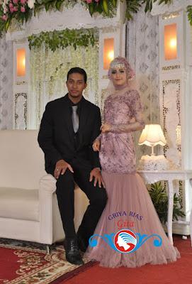 pengantin muslimah nuansa ungu