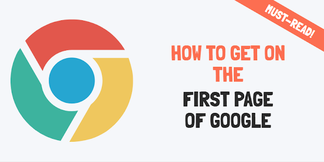 how to get on first page of google