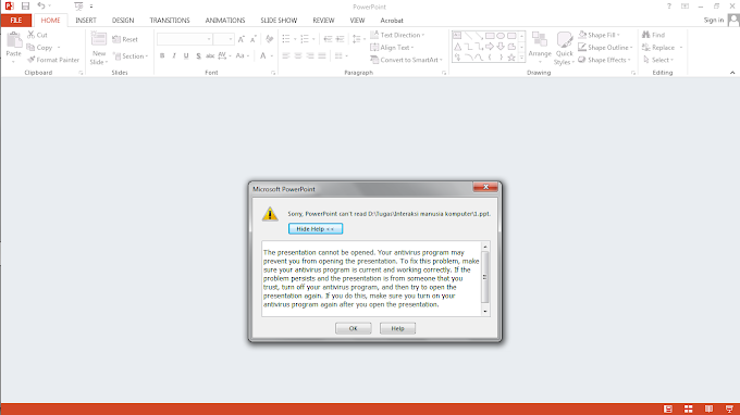 "Mengatasi ""Problem Sorry PowerPoint can not read the file"" di OS Windows"
