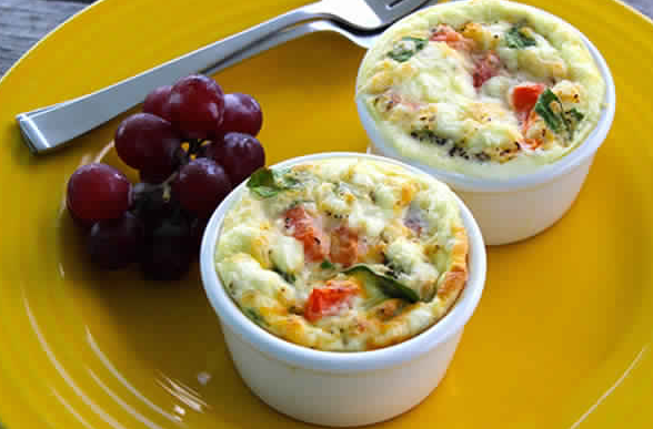 2sp - Individual Egg & Spinach Bowls