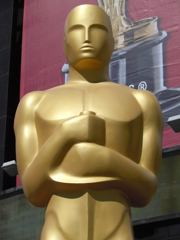 Giant gold Oscar Statue