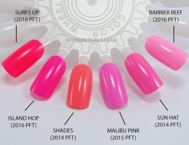 Models Own Polish For Tans Pinks Comparison