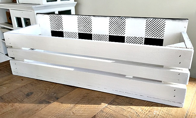 DIY Buffalo Check Mason Jar Crate for Puppy Treats. Homeroad.net
