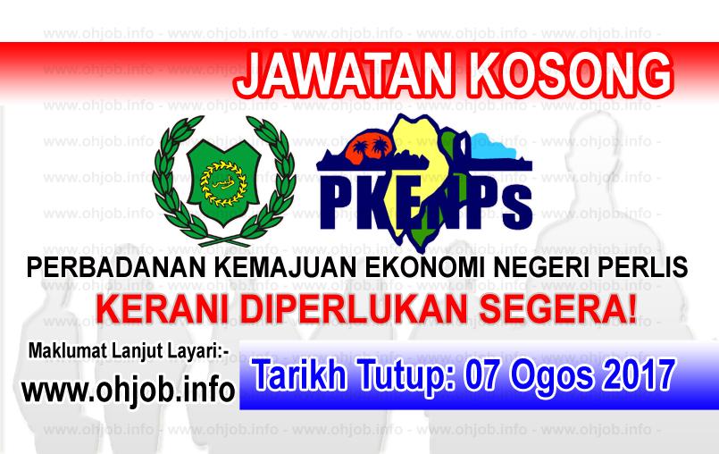 Jawatan Kerja Kosong Perbadanan Kemajuan Ekonomi Negeri Perlis - PKENPS logo www.ohjob.info ogos 2017