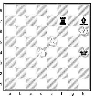 Estudio artístico de ajedrez compuesto por Leonid I. Kubbel (Schachmatny Listok 1926)