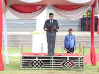 Bupati Pesawaran Pimpin Upacara Peringatan HUT Lampung Ke-55 di Lingkungan Pemkab Setempat