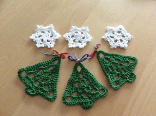 haken kerstboom en sneeuwvlokken