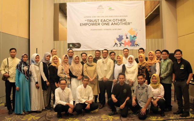 Pesonna Hotel Semarang beri motivasi para karyawan lewat General Staff Meeting, Sabtu, 11 Mei 2019. (dok Pesonna Hotel)