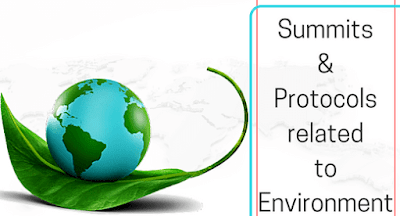Summits and Protocols related to Environment: