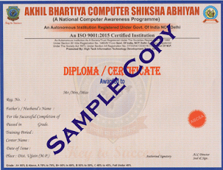certificate for students of abcsa
