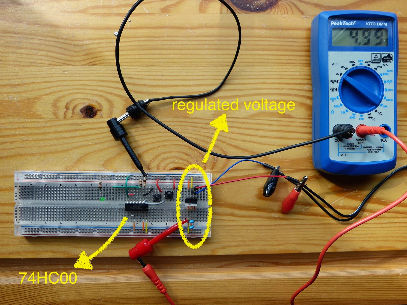 Electronics Page 4 Homehack Learn To Build The Atari Punk Console Electronic Circuits Overview Of Experiment 19 With Lm7805 On Right