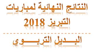 لوائح المترشحات و المترشحين الناجحين بصفة نهائية في مباريات التبريز 2018
