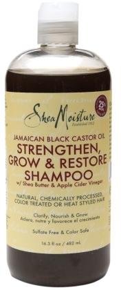 Click here to find a favorite clarifying shampoo of mine, SheaMoisture Strengthen, Grow & Restore Shampoo Jamaican Black Castor Oil