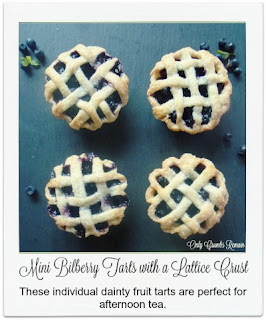 These dainty fruit tarts, made with a sweet pastry and finished with a lattice crust, are perfect for afternoon tea.