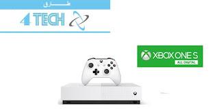 """مواصفات منصة الألعاب إكس بوكس ون إس  Xbox One S All-Digital منصة Xbox One S All-Digital منصة الألعاب """"إكس بوكس ون إس النسخة الرقمية بالكامل"""" Xbox One S All-Digital بلا قرص ليزري"""