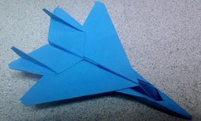 gấp giấy origami may bay