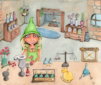 alchemist held captive watercolor illustration by tawnya boe art