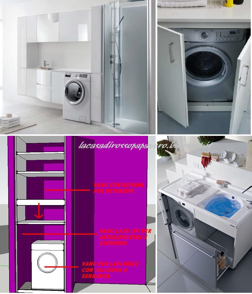 La casa rosso papavero lavatrice in bagno - Cam nascosta bagno ...