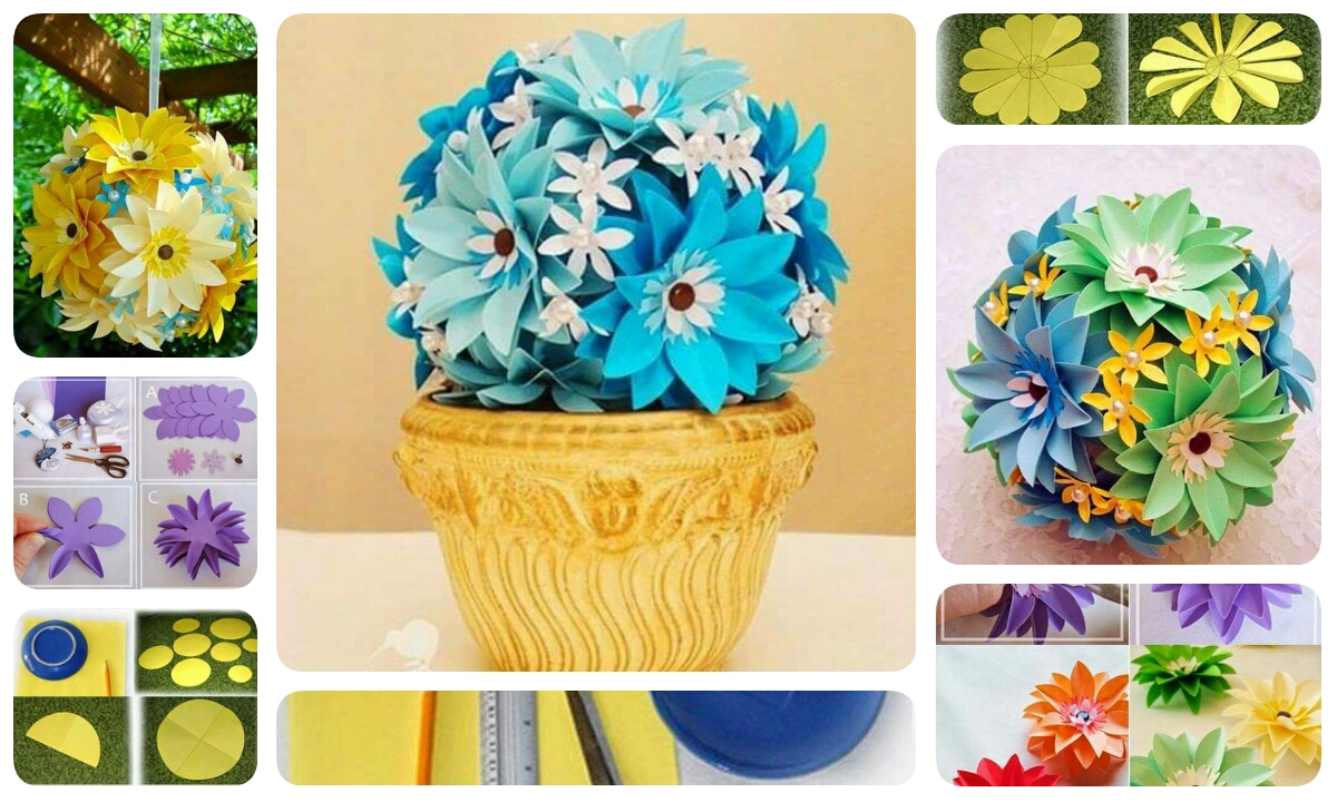 Make a Beautiful Paper Flower For Flower Pot Or Decoration