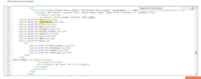 masukkan nama menu navbar di blog kamu