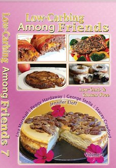 **NEW COIL BOUND (PINK) VOL-7** OF LOW-CARBING AMONG FRIENDS COOKBOOKS Jennifer's Collection-3