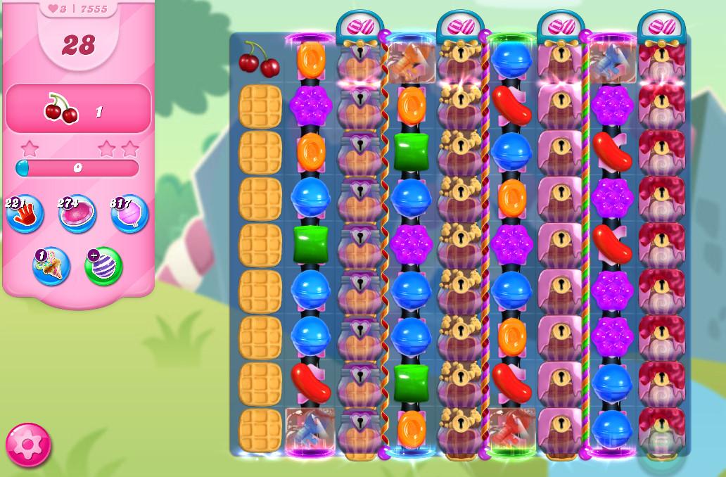 Candy Crush Saga level 7555