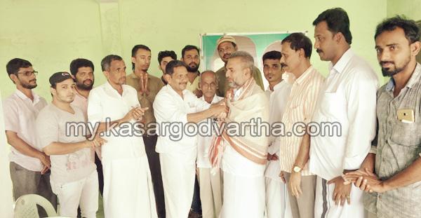 Kerala, News, Muliyar, Kasargod, Grama Panchayath President, felicitated, Grama Panchayath President felicitated.