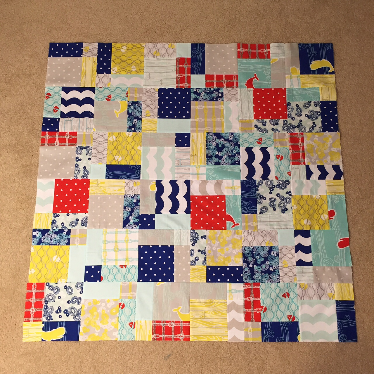 Meadow Mist Designs Quick And Easy Charm Square Baby Quilt