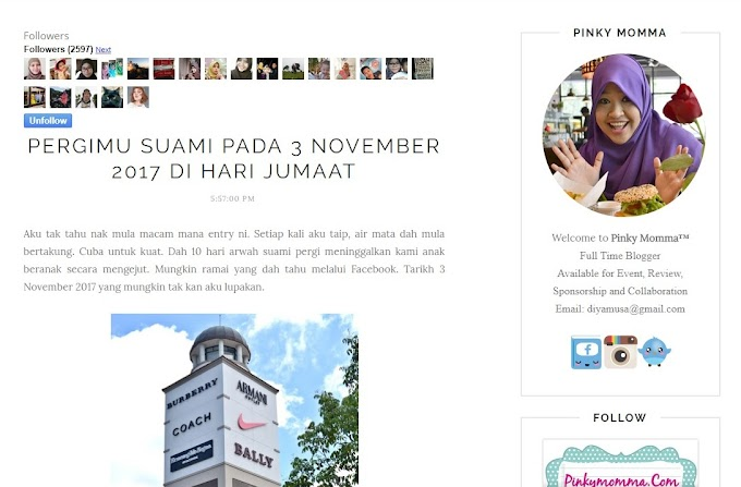 Blogger Pinky Momma Kehilangan suami | Salam Takziah