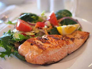 By eat salmon we get 180 mg of calcium in our body