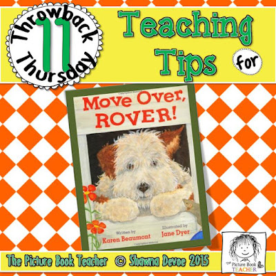 Move Over Rover by Karen Beaumont TBT - Teaching Tips.