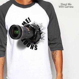 Jual Baju Kaos Distro Kaos 3 Dimensi Gambar Kamera KD 3
