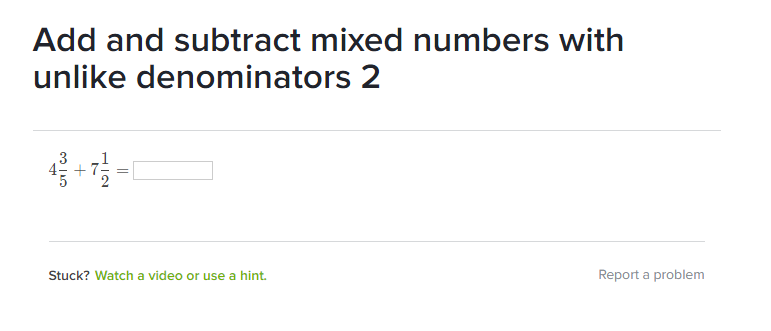 Math with Mrs  D: Khan Academy: Add and Subtract Mixed